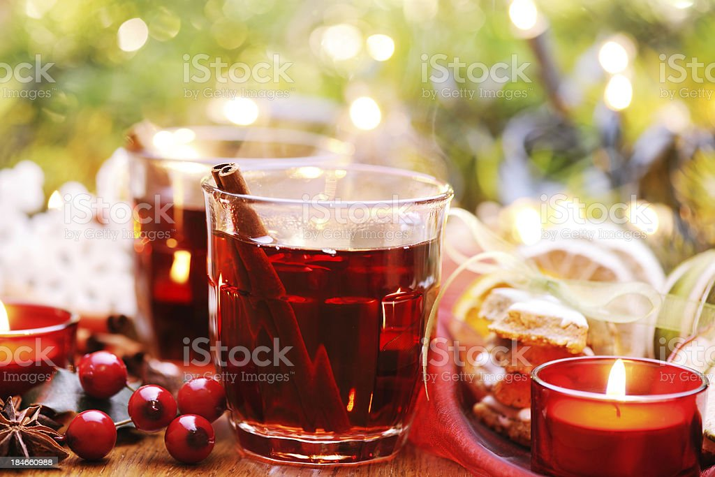 Winter hot drink stock photo