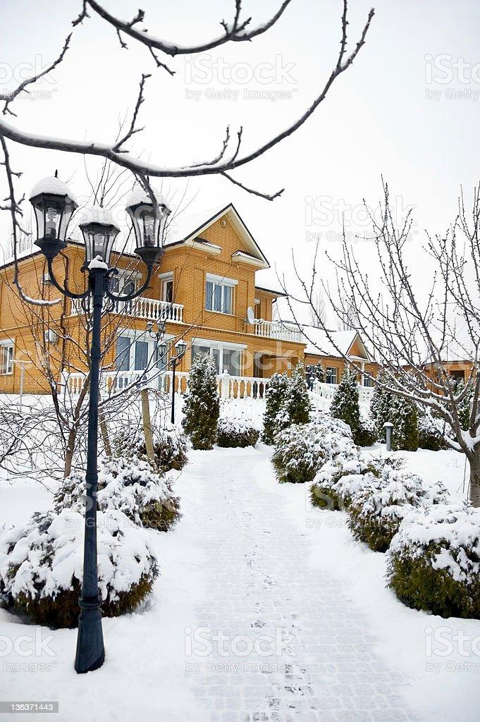 Winter house. royalty-free stock photo