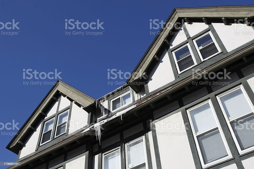 Winter House Roofline royalty-free stock photo