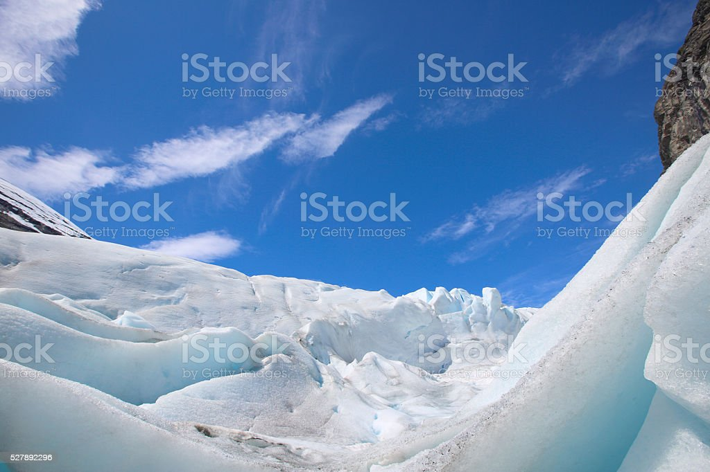 Winter ice landscape stock photo
