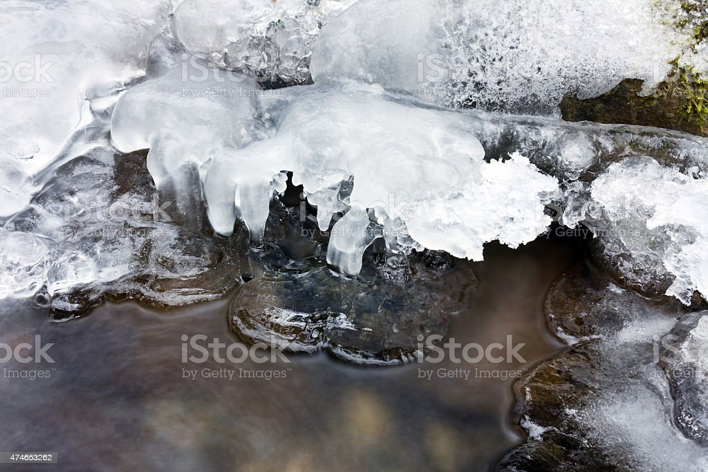 Winter ice stock photo