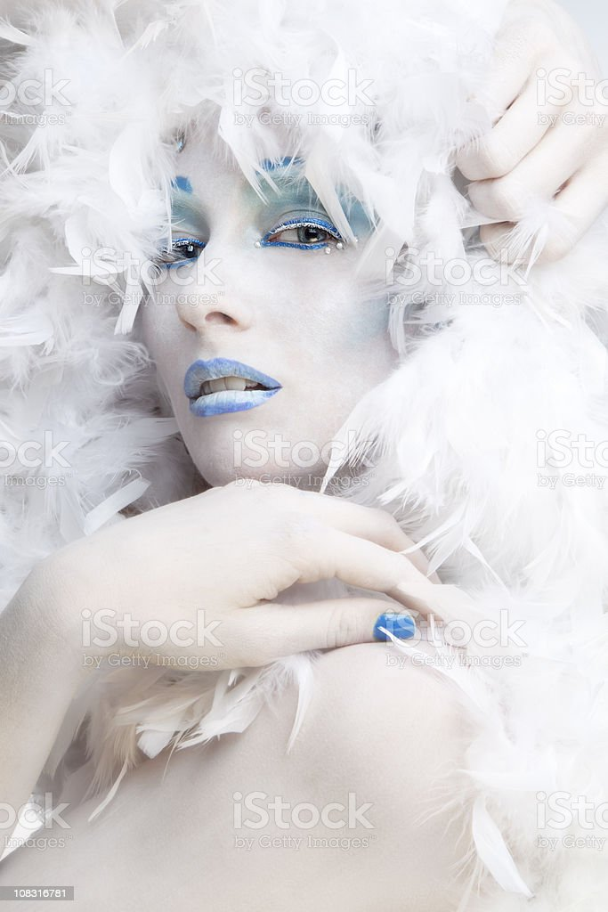 Winter: ice queen stock photo