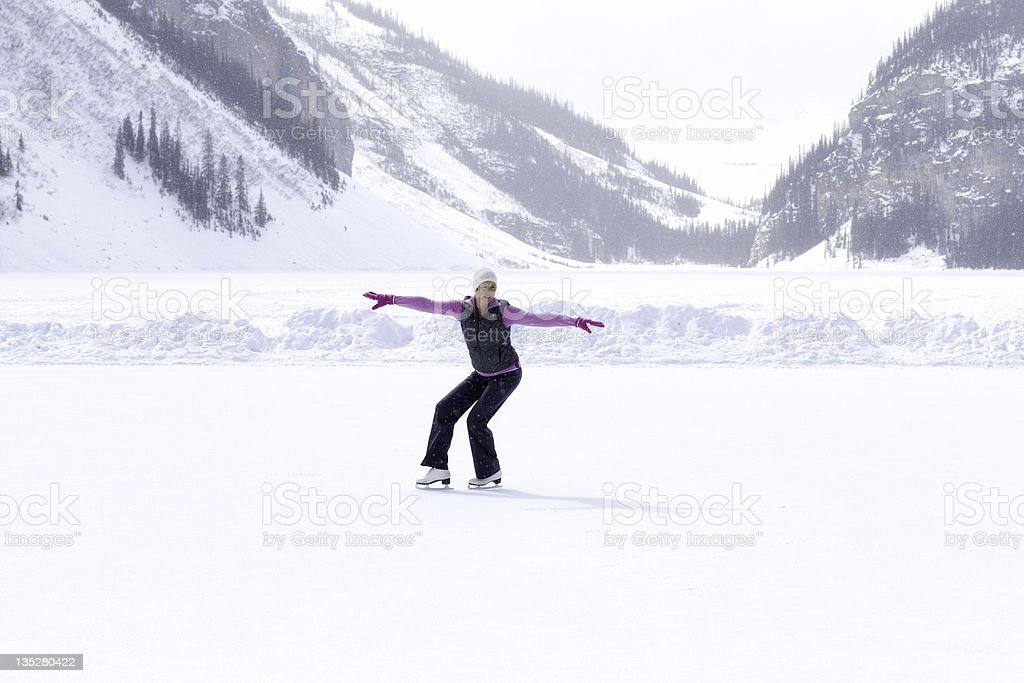 Winter Ice Skater royalty-free stock photo