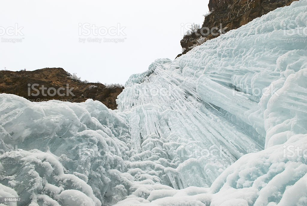Winter ice waterfall royalty-free stock photo