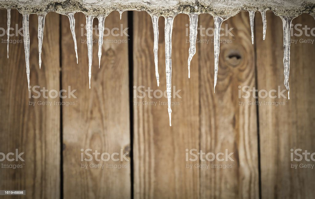 winter icicles royalty-free stock photo