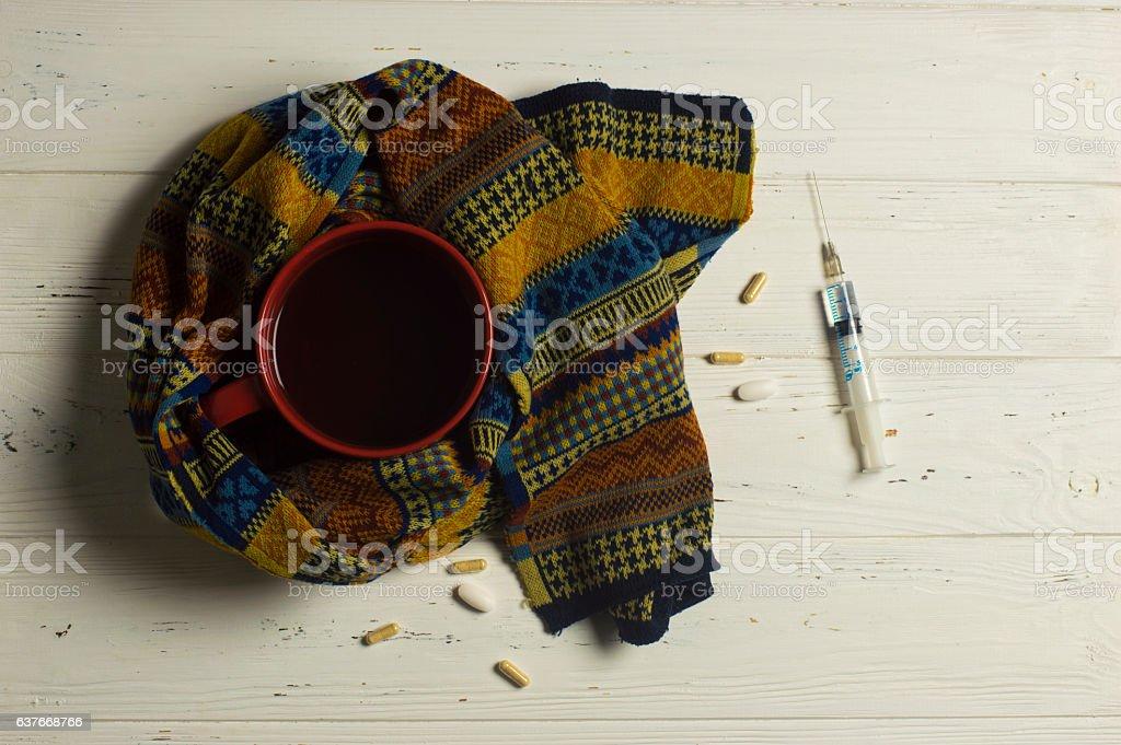 Winter Illness stock photo