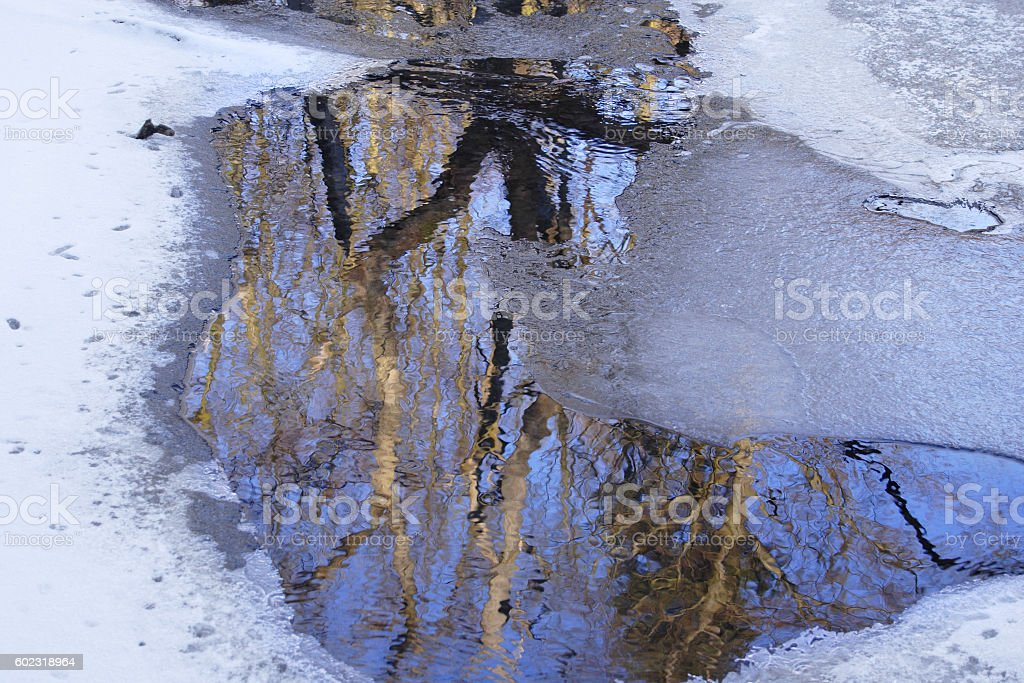 Winter impression in the Taunus. Germany stock photo