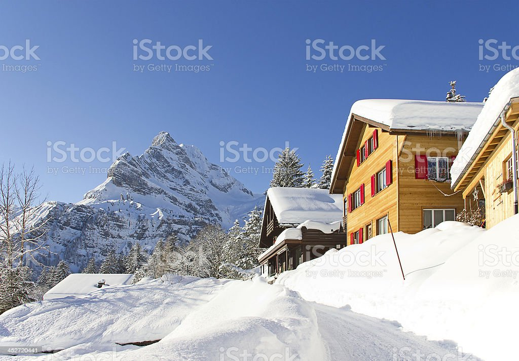 Winter in alps royalty-free stock photo