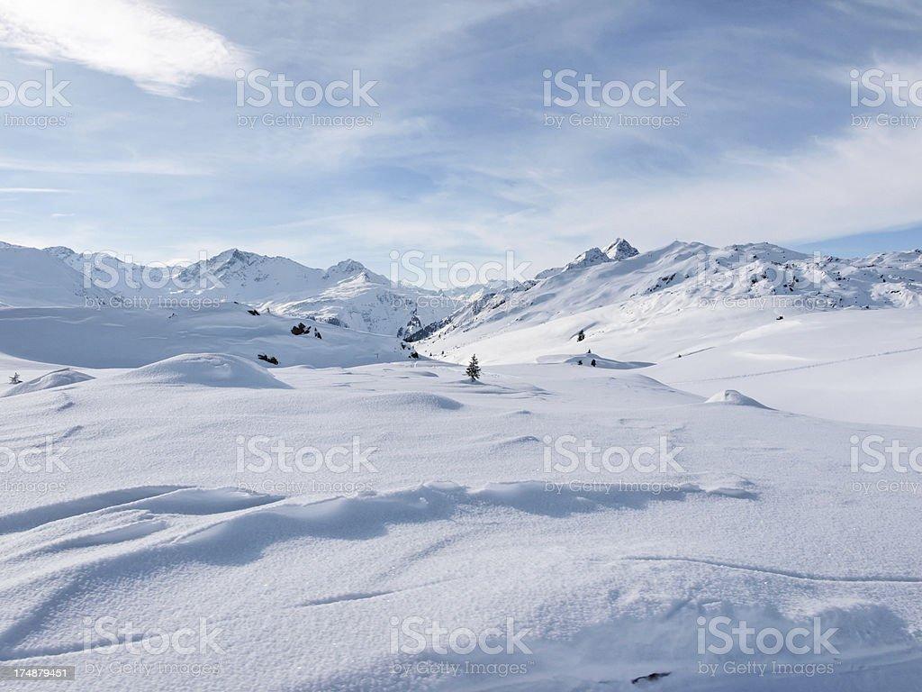 winter in Alps Vorarlberg Austria royalty-free stock photo