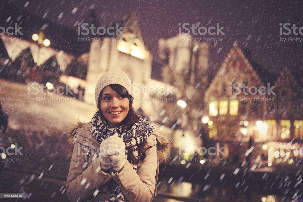 Winter in Belgium stock photo