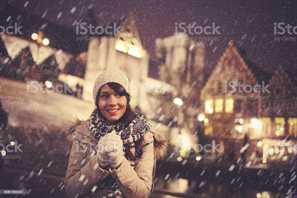 Winter in Belgium stock photo