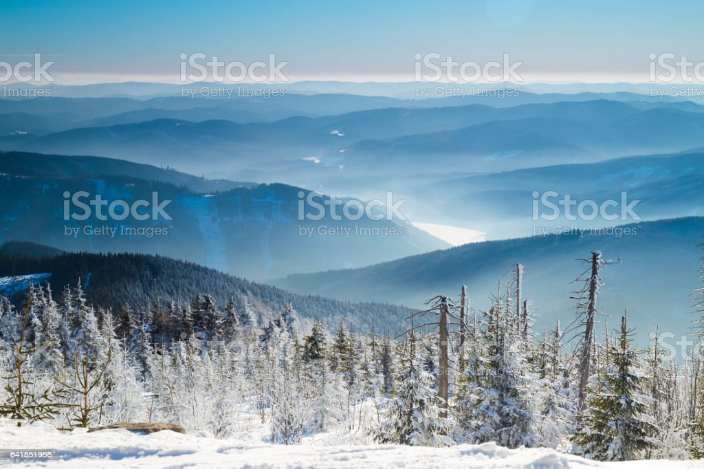Winter in Beskydy stock photo