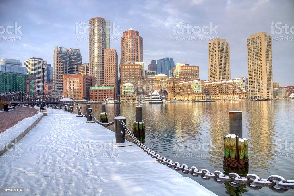 Winter in Boston, Massachusetts stock photo