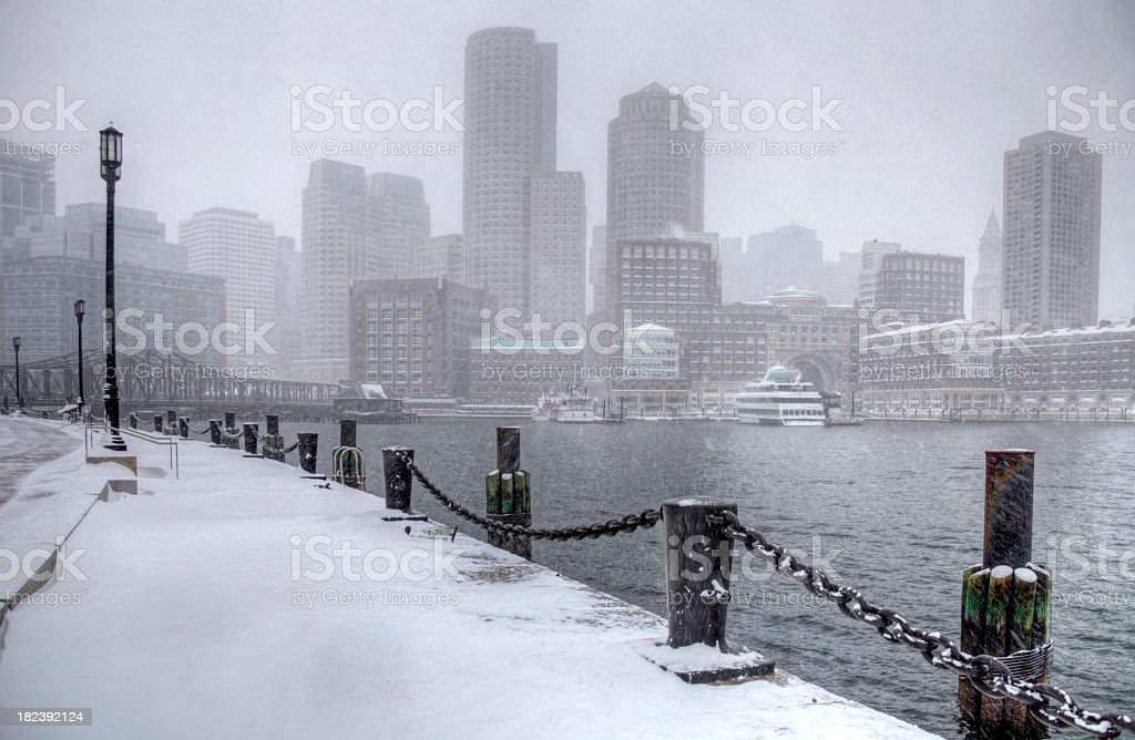 Winter in Boston royalty-free stock photo