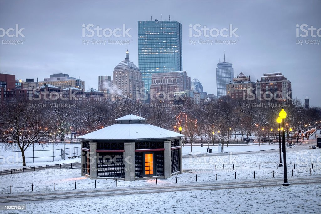 Winter in Boston royalty-free stock photo