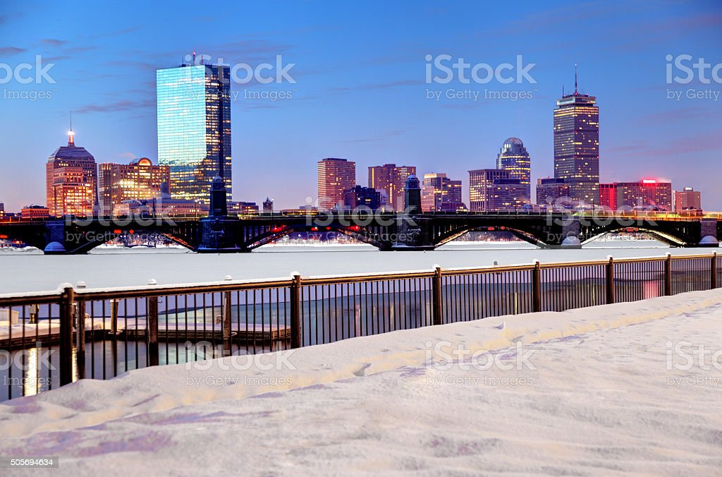 Winter in Boston stock photo