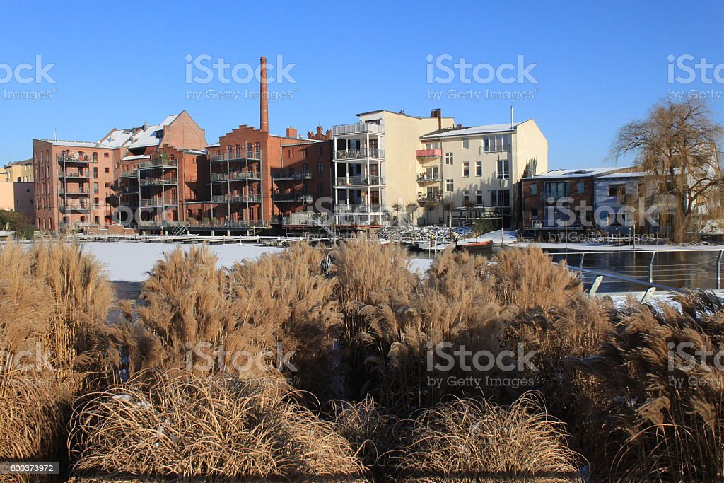 Winter in Brandenburg/Havel stock photo