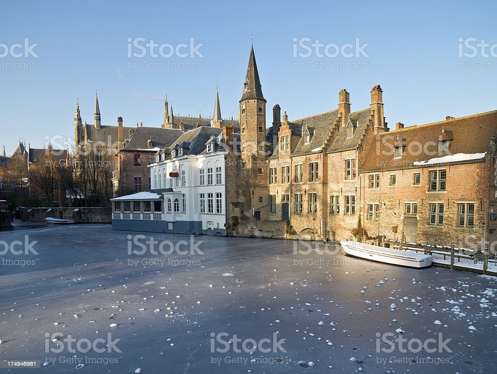 Winter in Brugge royalty-free stock photo