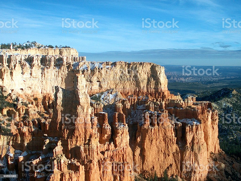 Winter in Bryce Canyon stock photo