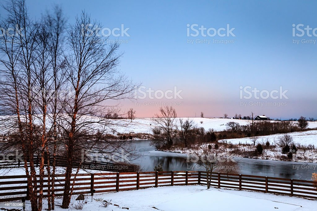 Winter in Central Kentucky stock photo