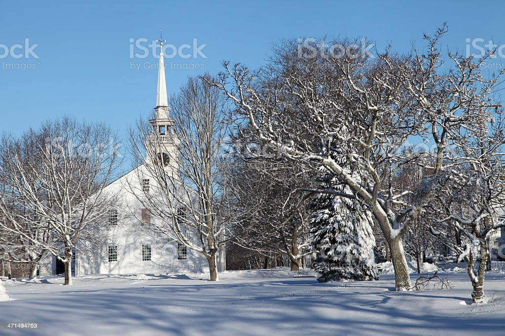 Winter in Cohasset royalty-free stock photo