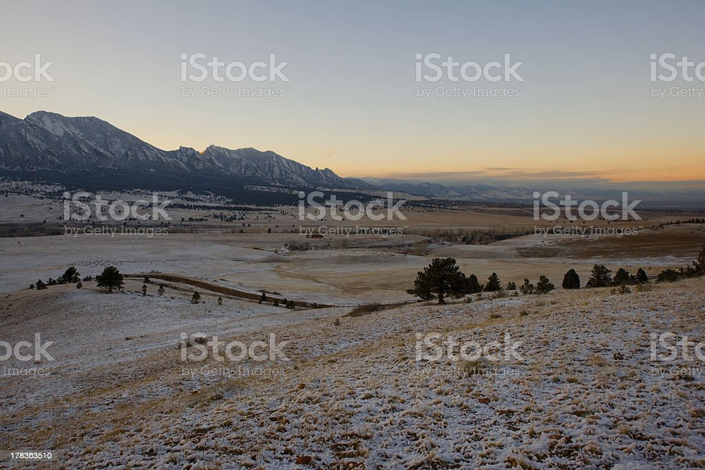 Winter in Colorado stock photo