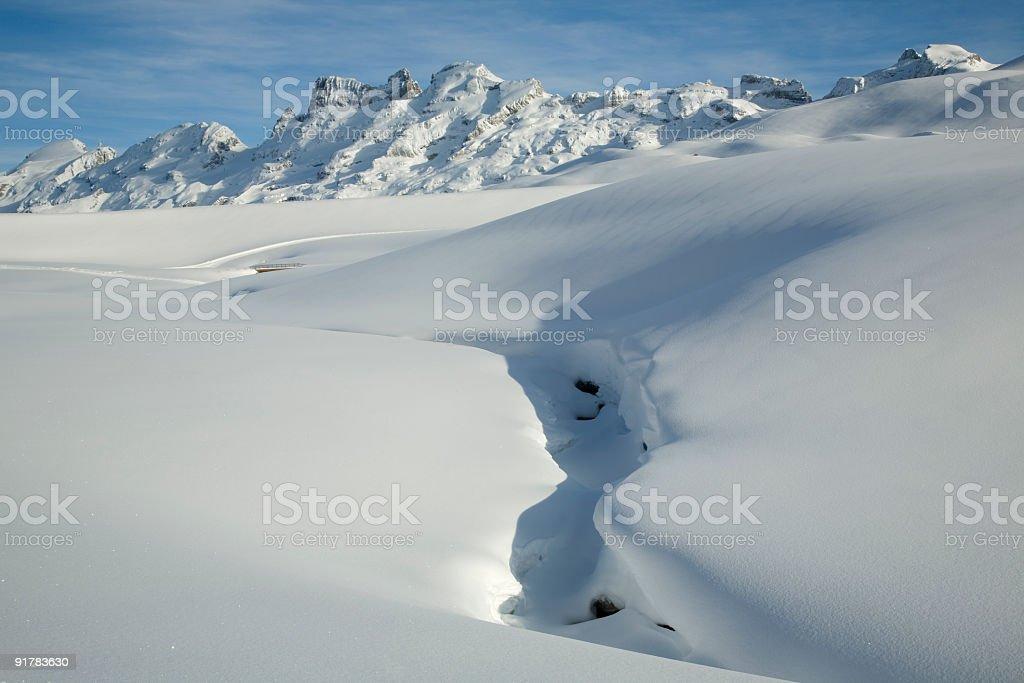 Winter in den Bergen stock photo