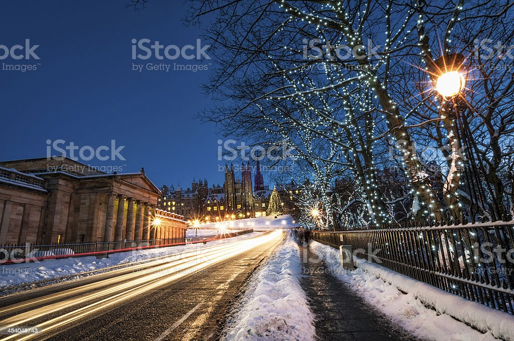 Winter in Edinburgh royalty-free stock photo