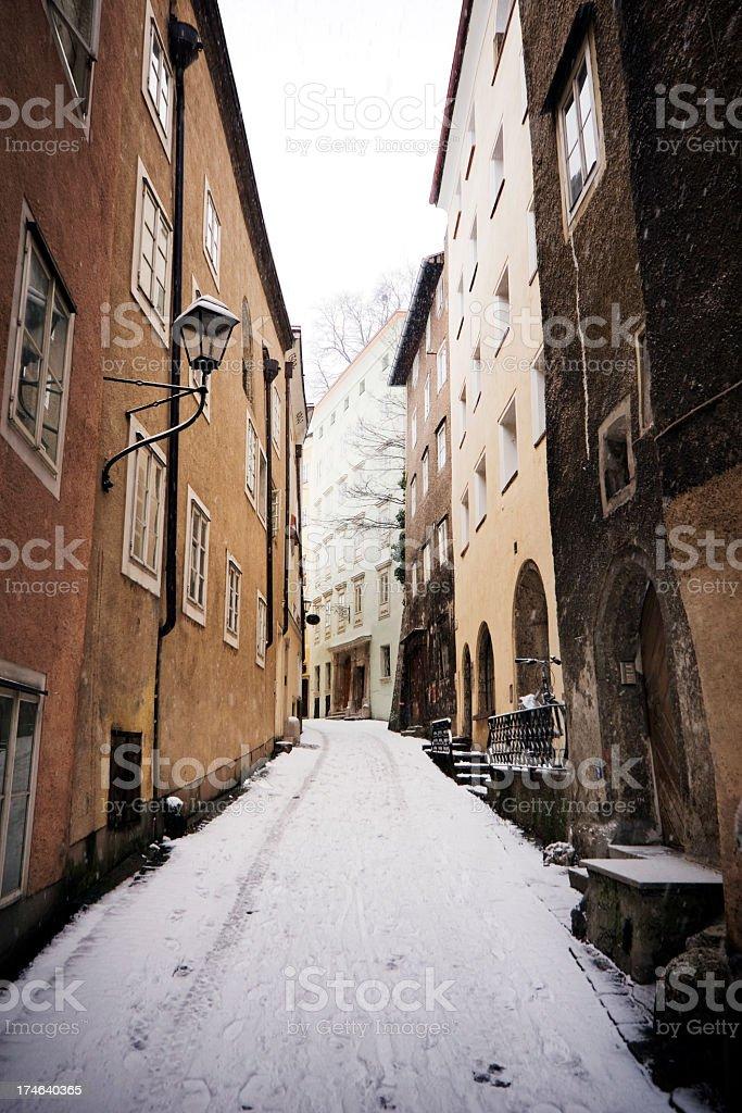 Winter in Europe stock photo