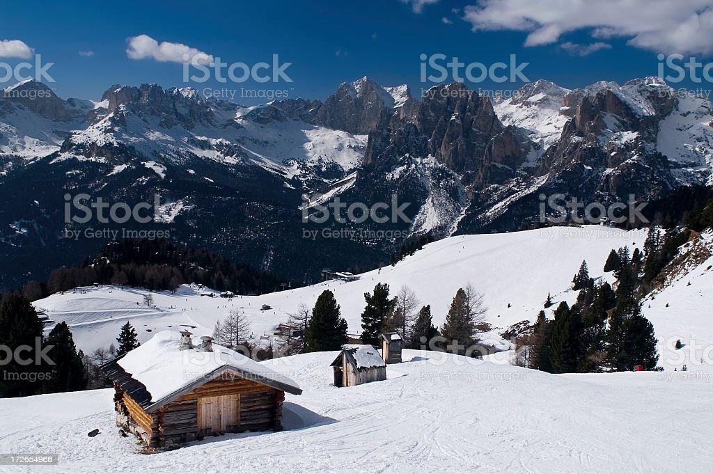 Winter in European Alps, Italy royalty-free stock photo