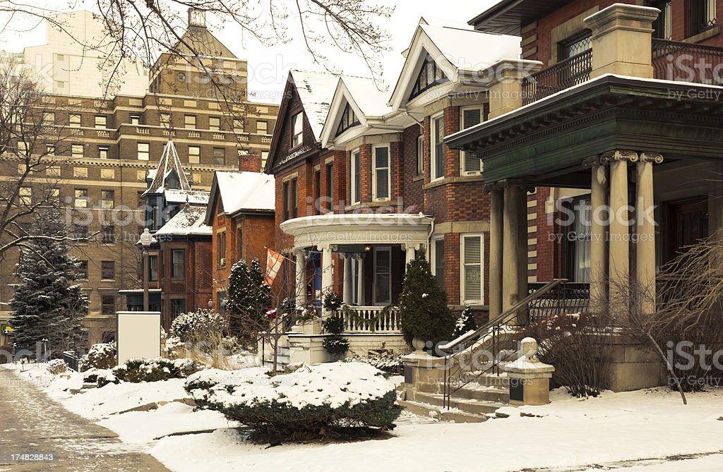 Winter in Hamilton, Ontario, Canada royalty-free stock photo