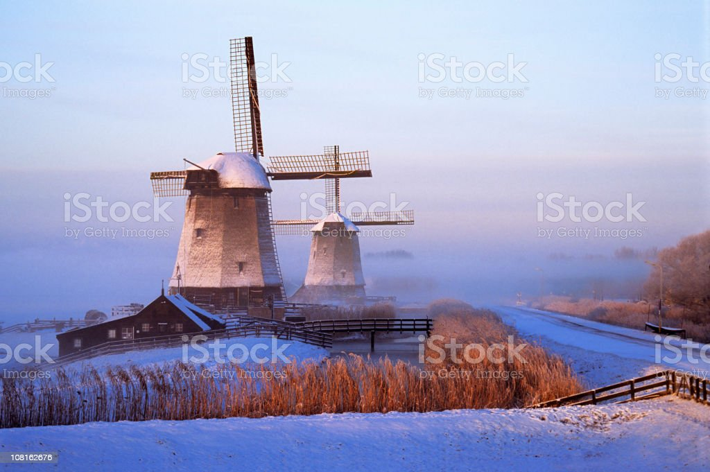 Winter in Holland royalty-free stock photo
