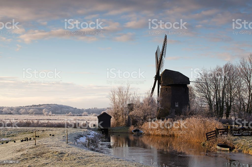 Winter in Holland. royalty-free stock photo