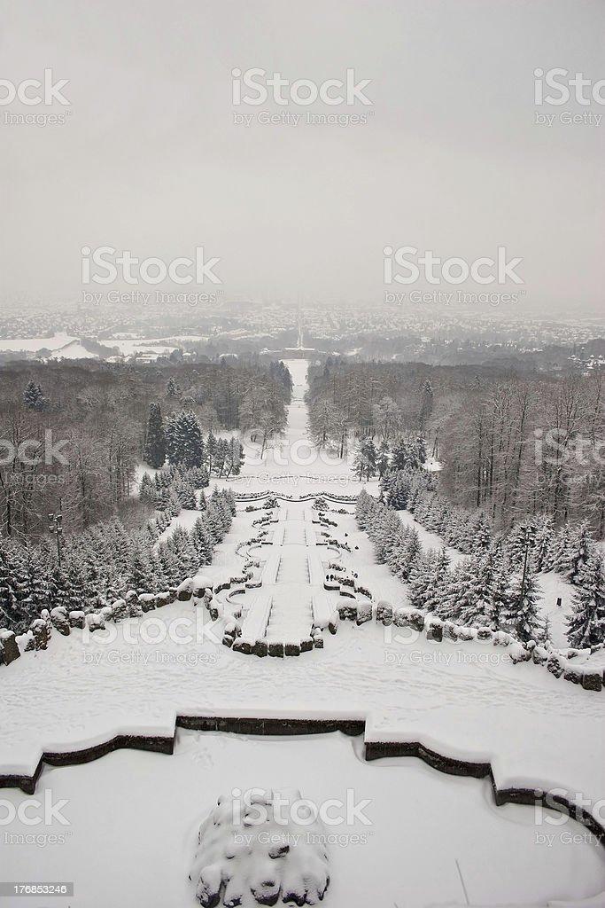 Winter in Kassel stock photo