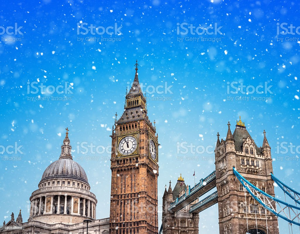 Winter In London stock photo