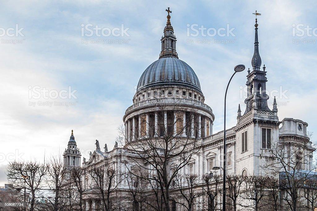 Winter in London's City stock photo
