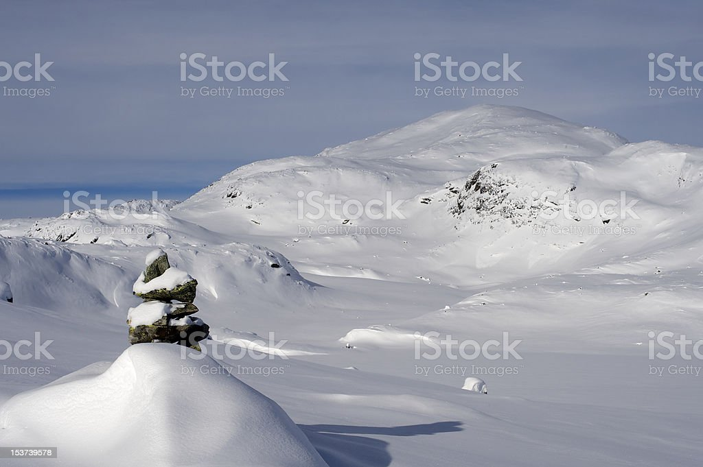 Winter in mountains of Jotunheimen National Park, Norway royalty-free stock photo
