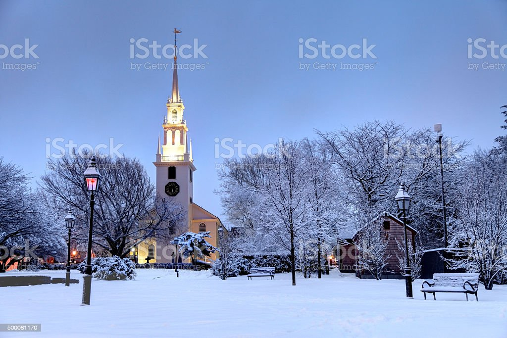 Winter in Newport, Rhode Island stock photo