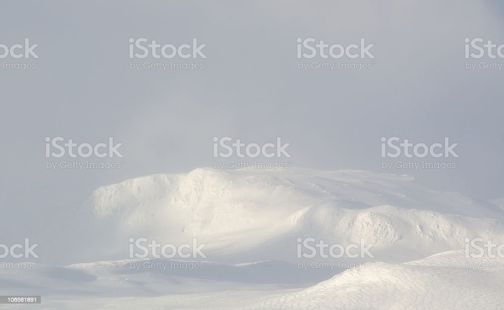 winter in Norway mountains stock photo