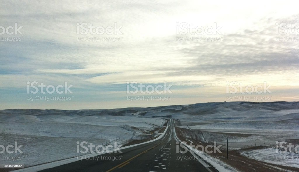 Winter in nowhere stock photo