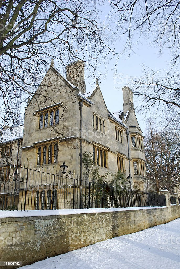 Winter in Oxford royalty-free stock photo