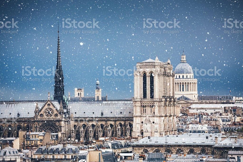 Winter In Paris stock photo