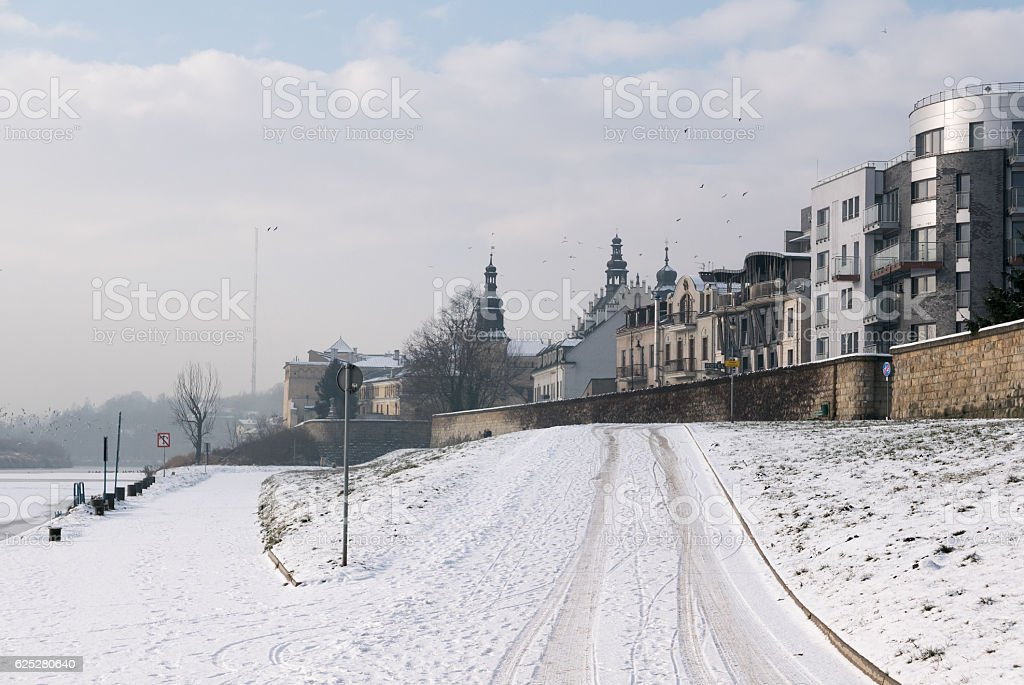 Winter in Poland stock photo