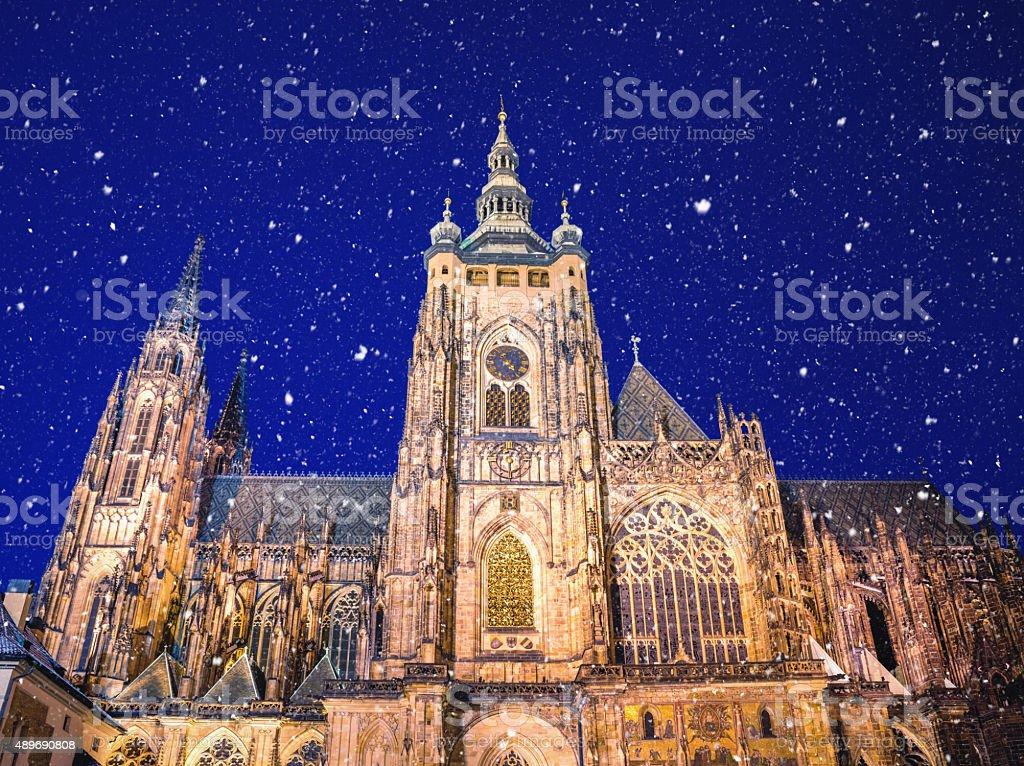 Winter In Prague stock photo