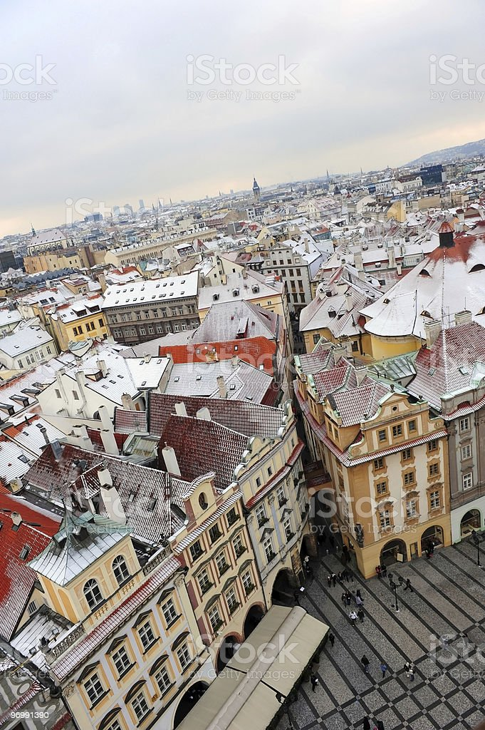 Winter in Prague royalty-free stock photo