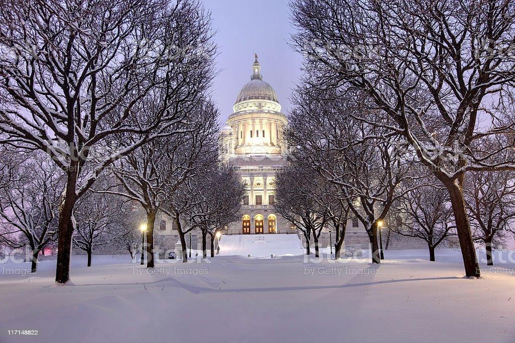 Winter in Rhode Island stock photo