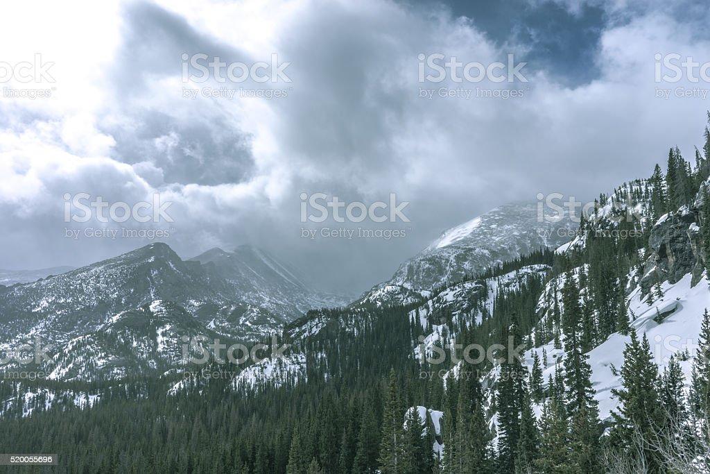 Winter in Rocky Mountain National Park, Colorado stock photo