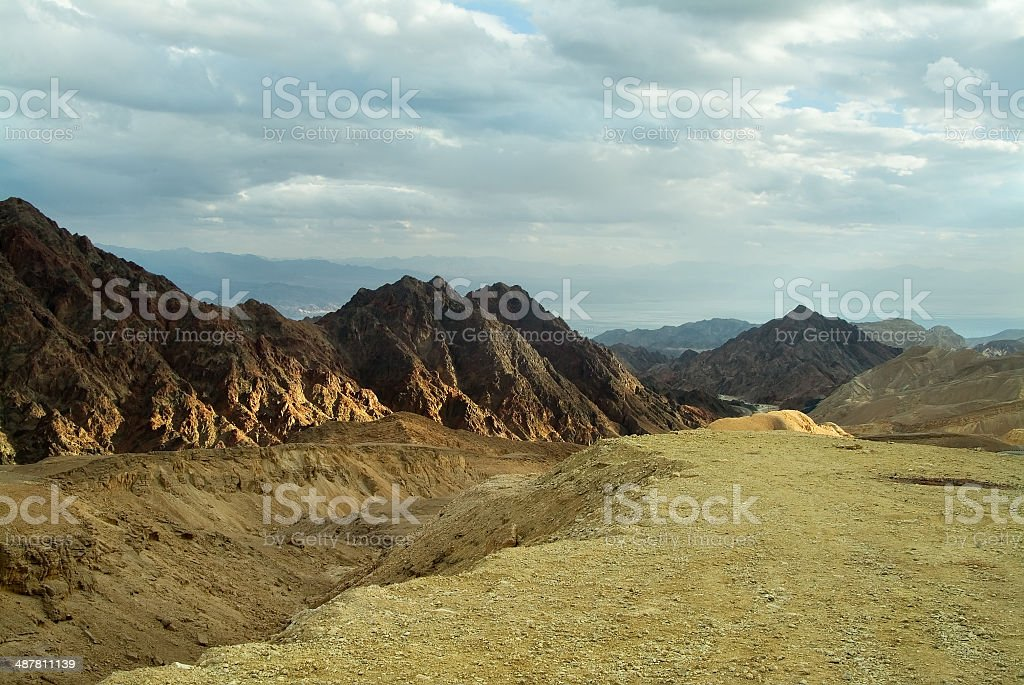 Winter in southern mountains stock photo