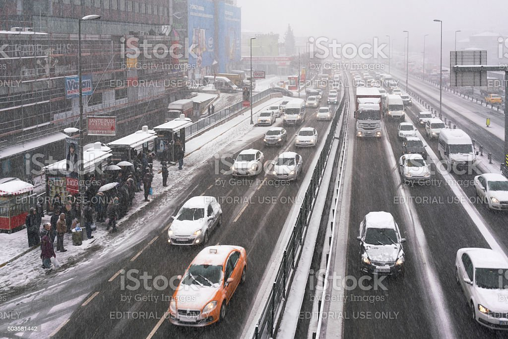 Winter in İstanbul stock photo