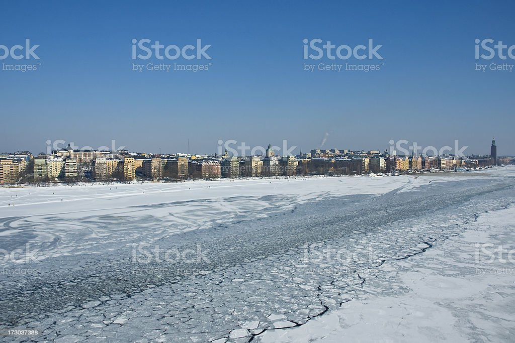 Winter in Stockholm royalty-free stock photo